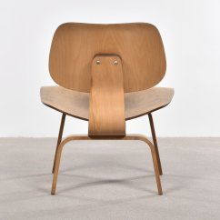 Eames Lcw Chair Navy Covers American Oak Lounge By Charles And Ray For
