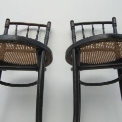 Bentwood Cane Seat Chairs Value City Furniture And Side From Thonet 1900s Set Of 2