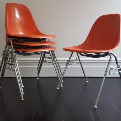 Herman Miller Chairs Vintage Metal Folding Patio Bistro Chair Target Dss Fiberglass Shell By Charles And Ray Eames
