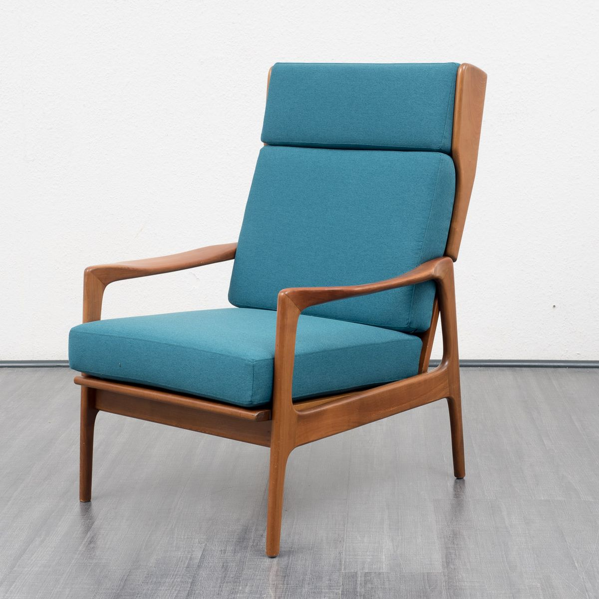 Retro Wing Chair Vintage Walnut Wing Chair 1960s For Sale At Pamono