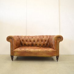 Leather Sofa Manufacturers Italy Contemporary Sofas Nyc Vintage English Cognac Art Deco Chesterfield Two-seater ...