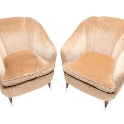 Gold Velvet Chair Diy Classroom Covers Art Deco Light Club Chairs 1940s Set Of 2