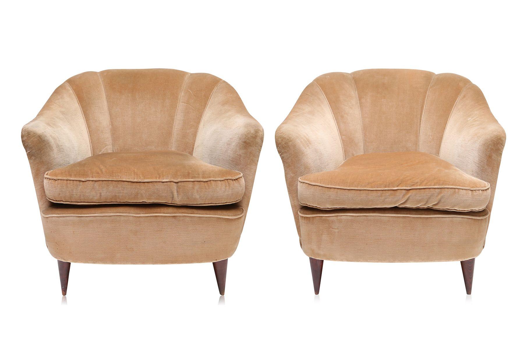 gold velvet chair big bean bag chairs for kids art deco light club 1940s set of 2