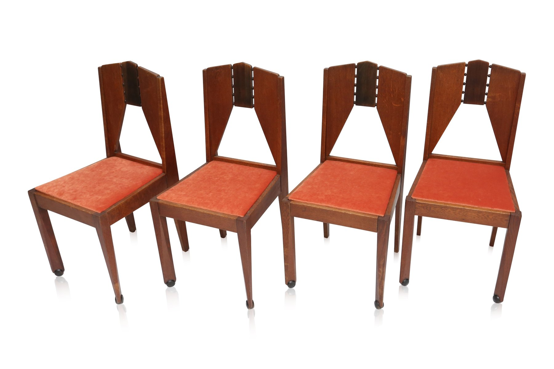 set of 4 chairs swivel chair rooms to go amsterdam school 1930s for sale at pamono