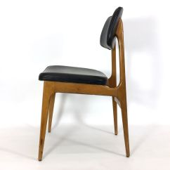 Set Of 4 Dining Chairs Wedding Venue Chair Covers And Sashes Vintage Wooden Leatherette For