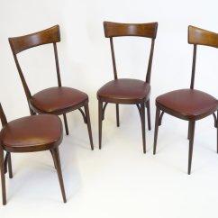 Set Of 4 Dining Chairs For Church Sanctuary Canada Mid Century Italian Mahogany