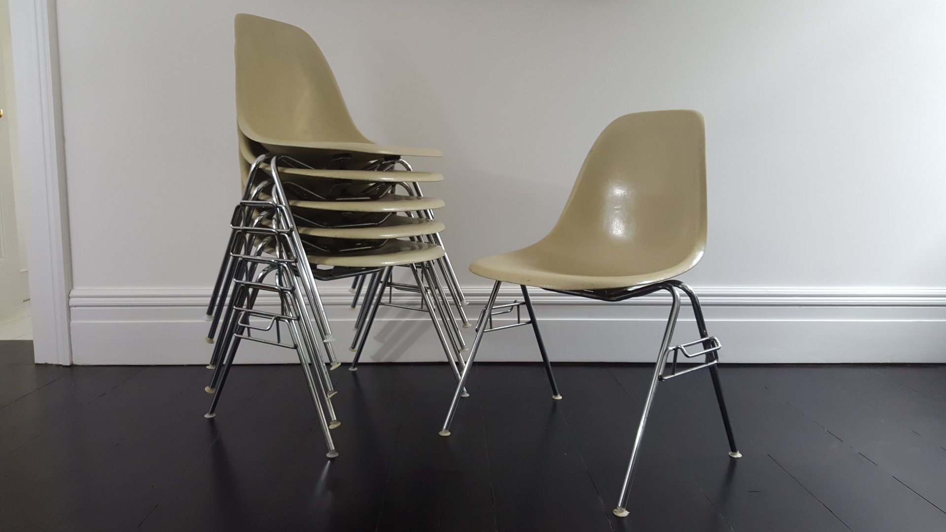 fiberglass shell chair peg perego prima pappa diner high vintage dss by charles and ray eames