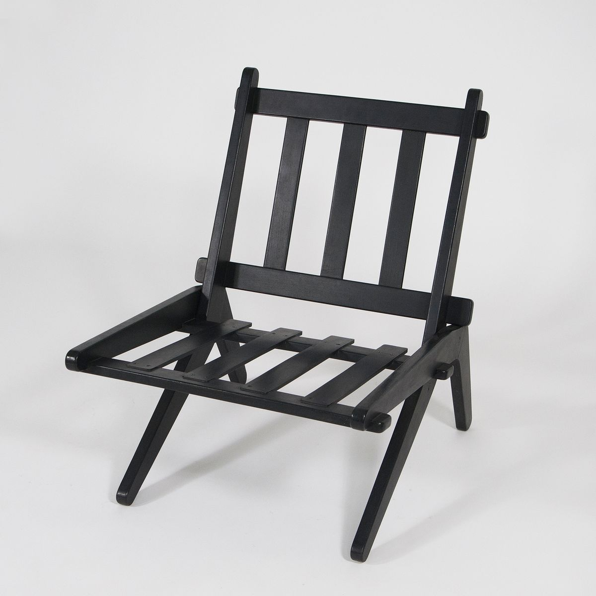 folding z chair wood arm chairs danish lounge 1950 for sale at pamono