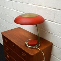 Vintage Red Desk Lamp for sale at Pamono
