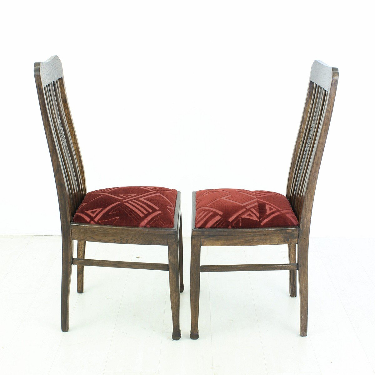 vintage oak dining chairs folding chair video 1920s set of 2 for sale at pamono