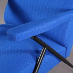 Vintage Electric Chair Stokke High Reviews Italian Blue Lounge 1960s For Sale