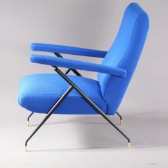 Vintage Electric Chair Covers For Folding Chairs Near Me Italian Blue Lounge 1960s Sale