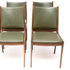 Green Dining Chairs Uk Upholstered Modern Danish Leather By Johannes Andersen