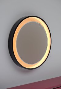 Large Backlit Round Mirror for sale at Pamono