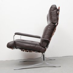 Steel Lounge Chair Best Guitar Flat And Leather 1970s For Sale At Pamono