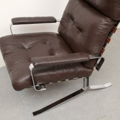Steel Lounge Chair Wheelchair Movie Flat And Leather 1970s For Sale At Pamono