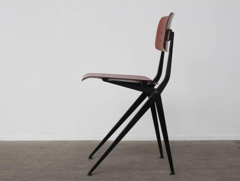 industrial dining chair car office mid-century compass leg from marko for sale at pamono