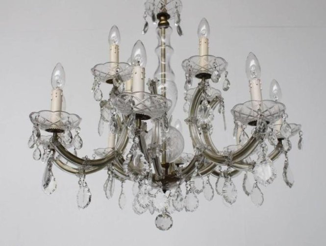 Large Marie Therese Two Tier Chandelier 1930s