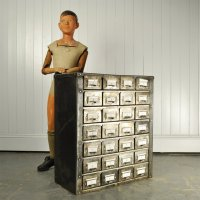 Polished Steel Filing Cabinet, 1930s for sale at Pamono