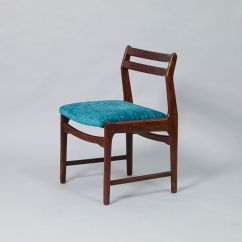 Fabric Dining Chairs Wedding Chair Covers Silver Sashes Vintage Rosewood And Blue For Sale At Pamono