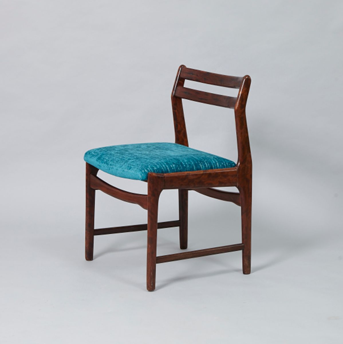 old blue chair sunbrella outdoor cushions vintage rosewood and fabric dining for sale at pamono