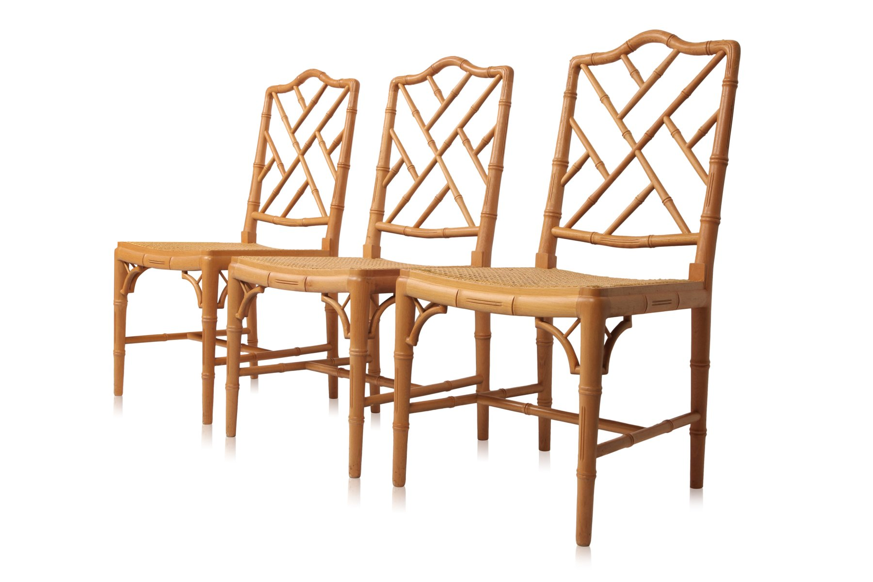 bamboo dining chair office accessories decor french chairs 1980s set of 6 for sale at