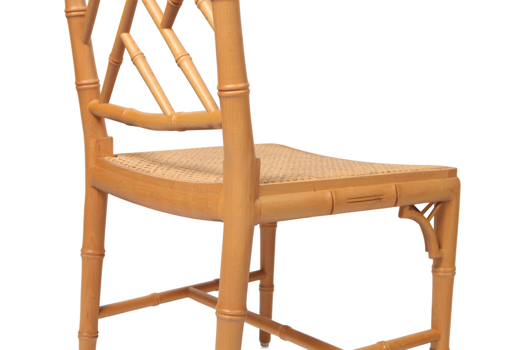 bamboo dining chair teal lounge french chairs 1980s set of 6 for sale at