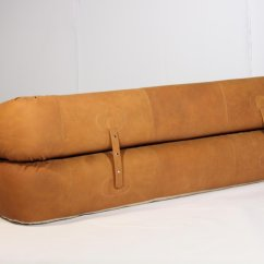Anfibio Leather Sofa Bed Sand Bag By Alessandro Becchi For Giovannetti