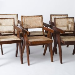 Where Can I Buy Cane For Chairs Computer At Walmart Office By Pierre Jeanneret Set Of 6 Sale