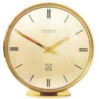 Mid-Century Brass Everdate Table Clock from Kienzle for ...