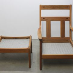 Mid Century Danish Chair 3 In 1 Teak Highback Lounge With Stool
