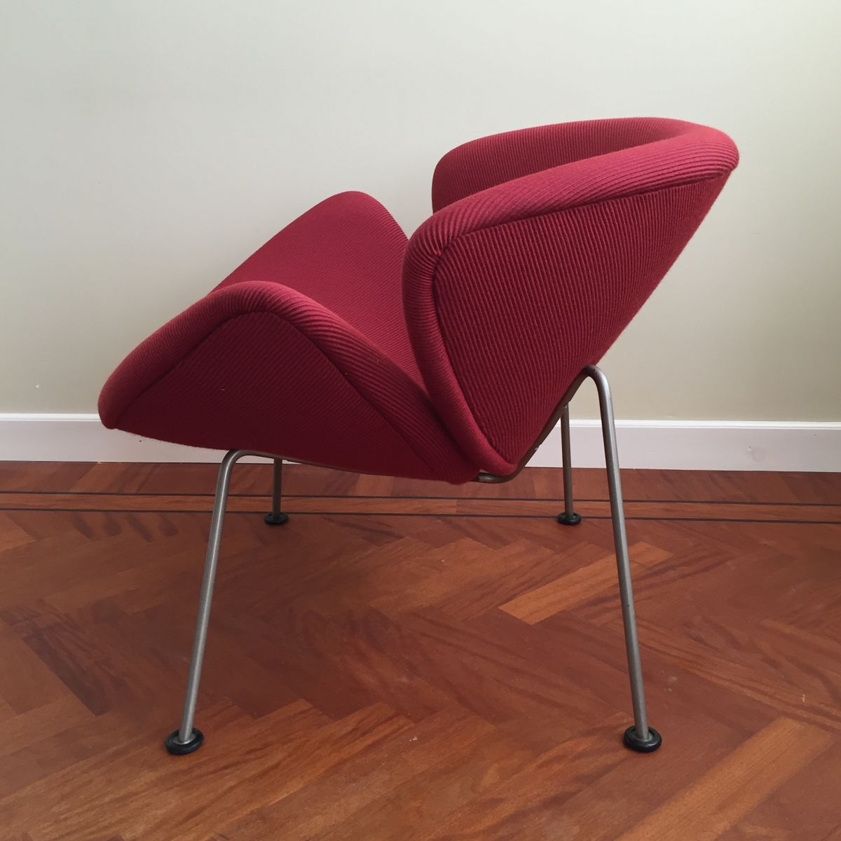 orange slice chair round padded folding chairs vintage lounge by pierre paulin for