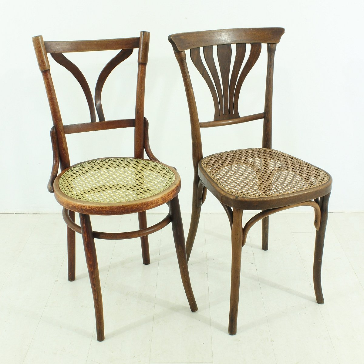 plastic bentwood bistro chairs bedroom chair malaysia antique chairs, set of 2 for sale at pamono