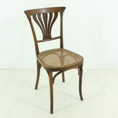 Plastic Bentwood Bistro Chairs Cane Dining For Sale Antique Set Of 2 At Pamono