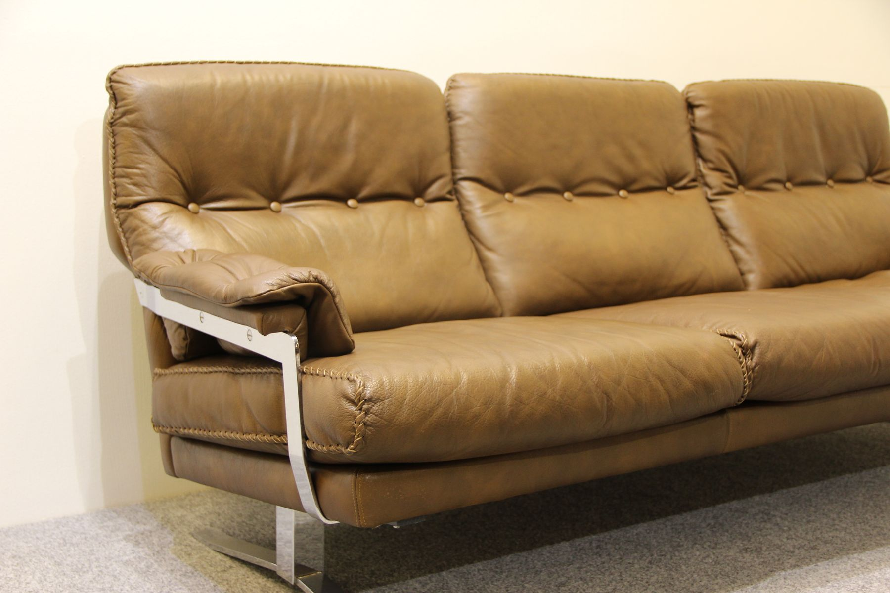 buffalo leather chair folding desk with wheels danish brown sofa arne norell for sale at