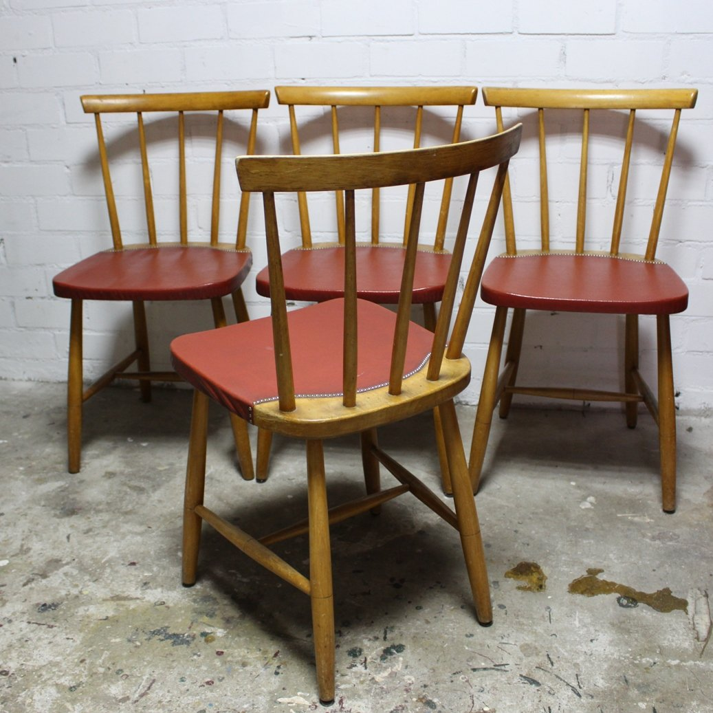 set of 4 dining chairs reclining beach uk mid century vintage 1960s for