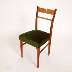 Green Dining Chairs Uk Beige Chair Covers Buy Italian Wood And Velvet 1950s Set Of 4