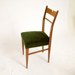Green Dining Chairs Uk Chippendale Wingback Chair Italian Wood And Velvet 1950s Set Of 4