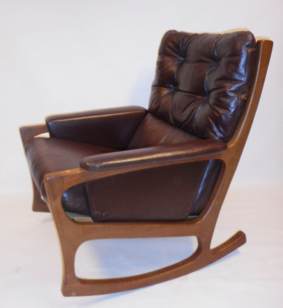 mid century rocker chair deck lounge chairs nordic style rocking for sale at pamono