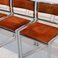 Chrome Dining Chairs Australia Chair Cover Rentals Victoria Mid Century In Tubular And Leather