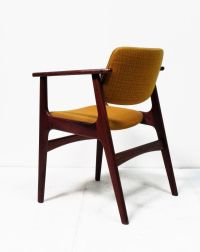Scandinavian Solid Teak Desk Chair for sale at Pamono