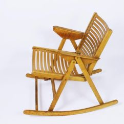 Old Fold Up Rocking Chair Iron Lounge Chairs Vintage Rex Folding By Niko Kralj For Sale