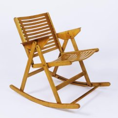 Antique Folding Rocking Chair Value Floor Gaming Opp 2 0 Wired Vintage Rex By Niko Kralj For Sale