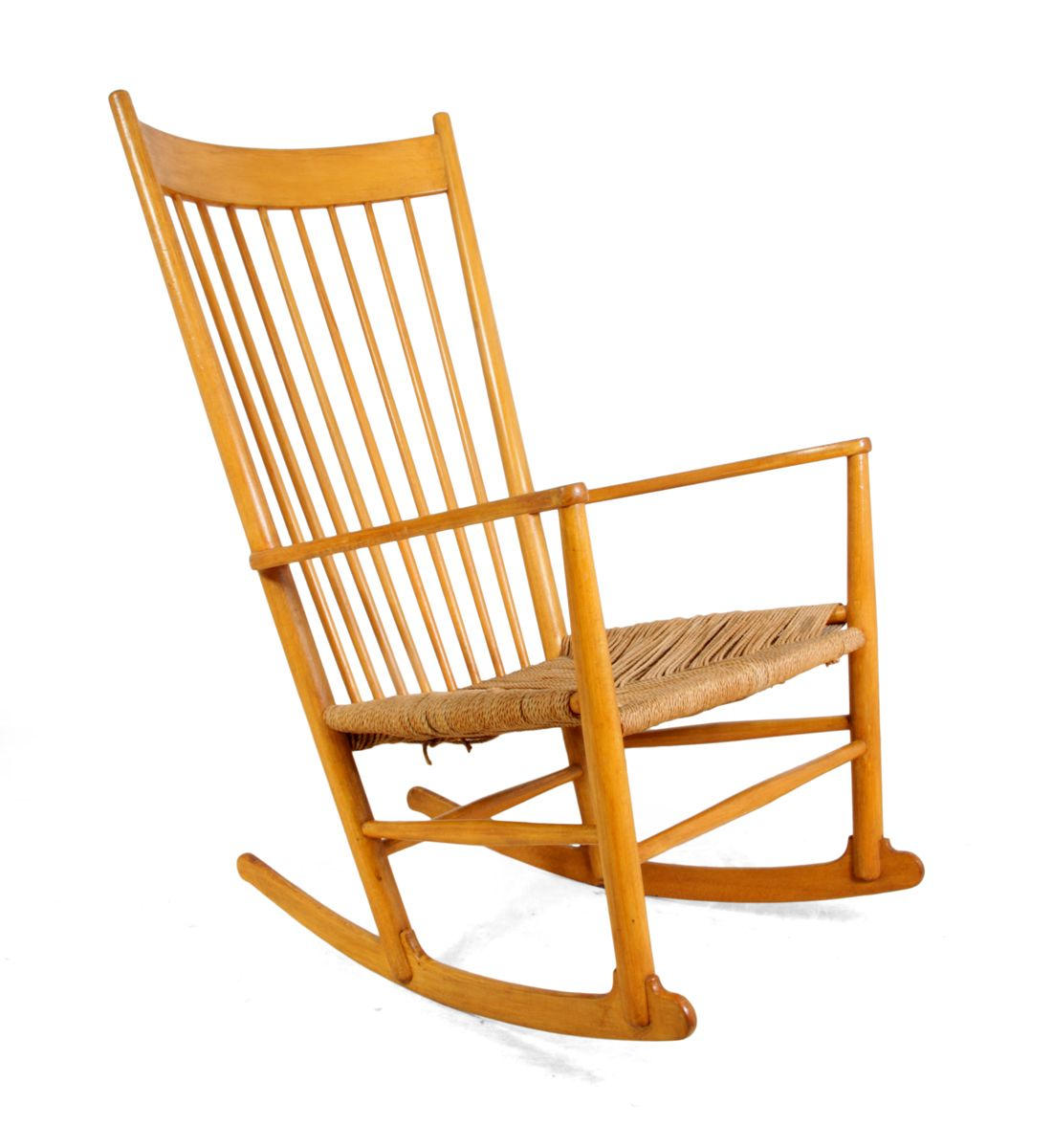 hans wegner rocking chair sit and play vintage j16 beech by j for sale