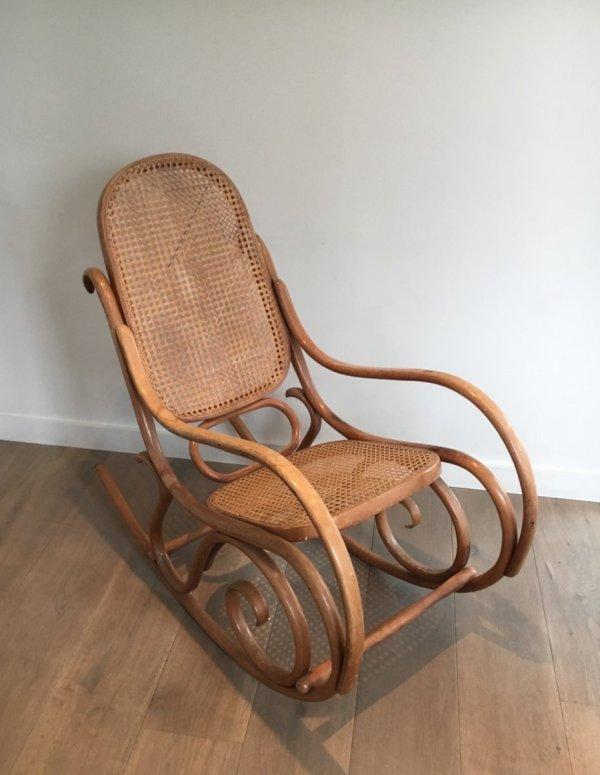 Vintage Bentwood Rocking Chair 1970s Pamono