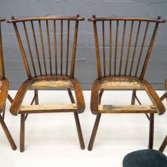 Vintage Wooden Dining Chairs Hello Kitty High Chair 1950s Set Of 4 For Sale At