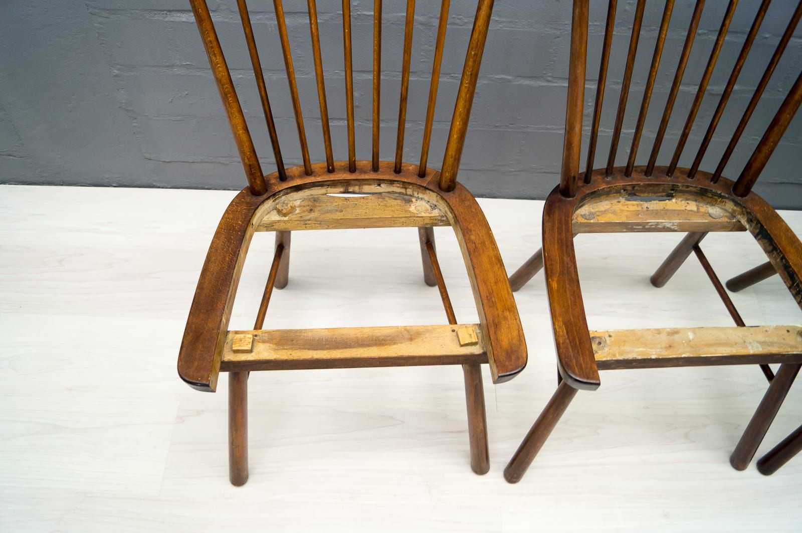 vintage wooden dining chairs chair covers and sashes dundee 1950s set of 4 for sale at