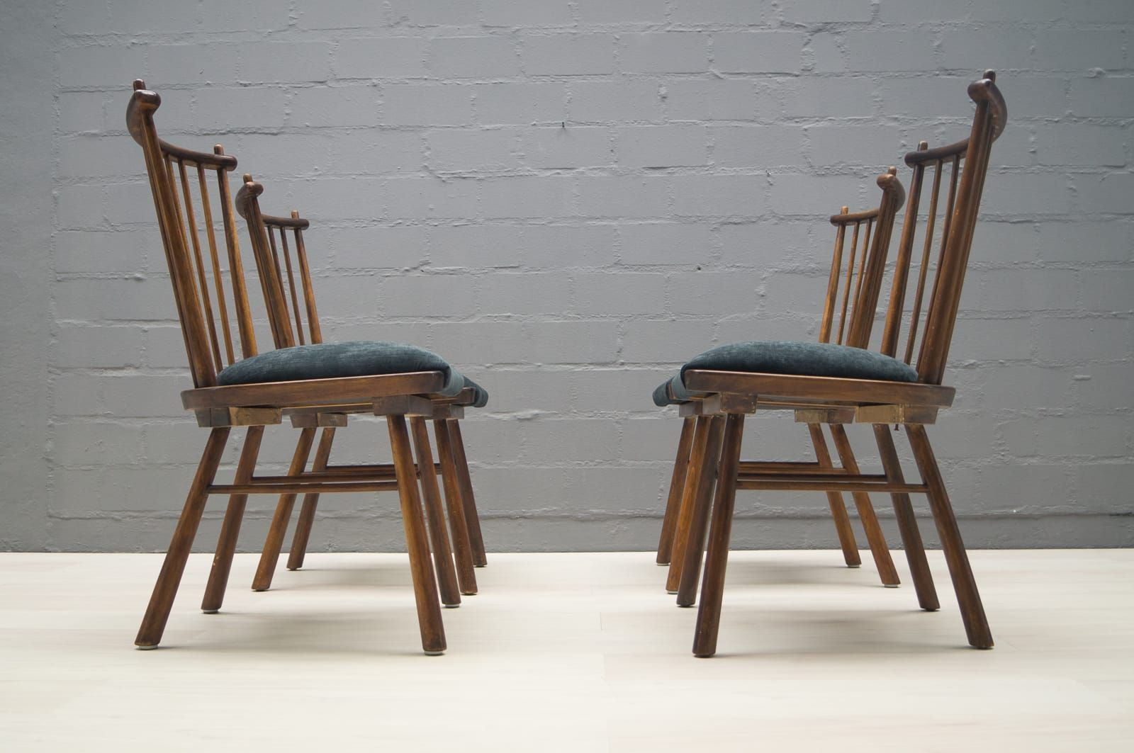 vintage wooden dining chairs swing chair sale 1950s set of 4 for at