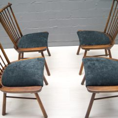Vintage Wooden Dining Chairs Hanging Kids Chair 1950s Set Of 4 For Sale At