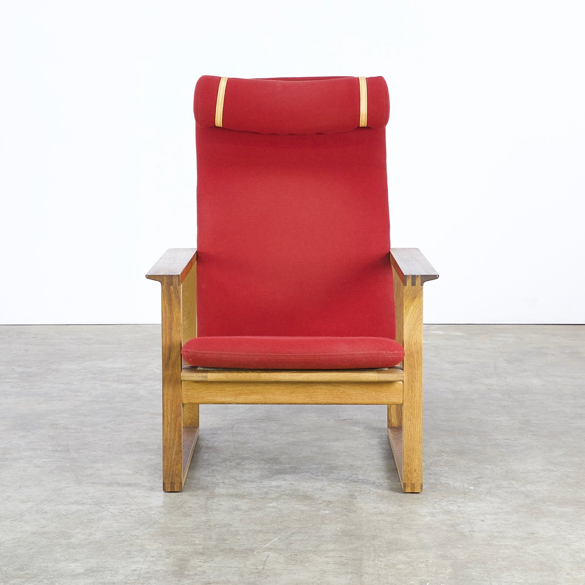 red lounge chair adirondack chairs target australia by borge mogensen for fredericia
